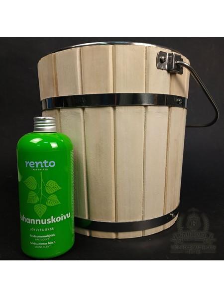 Набор для банных ароматов. Ведро липа 6л + ароматизатор RENTO.