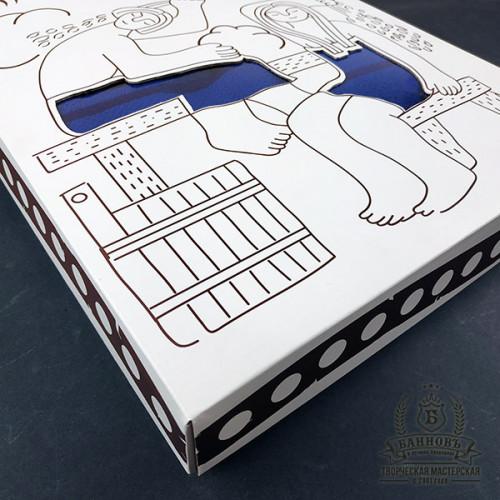Подарочный набор для бани 3в1 (синий)