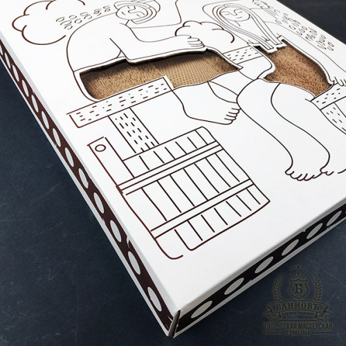Подарочный набор для бани 3в1 (бежевый)