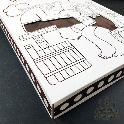 Подарочный набор для бани 3в1 (коричневый)