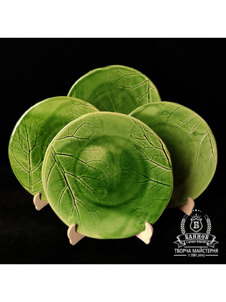 "Набор тарелок ""Флора"" (4 шт.), зеленый"