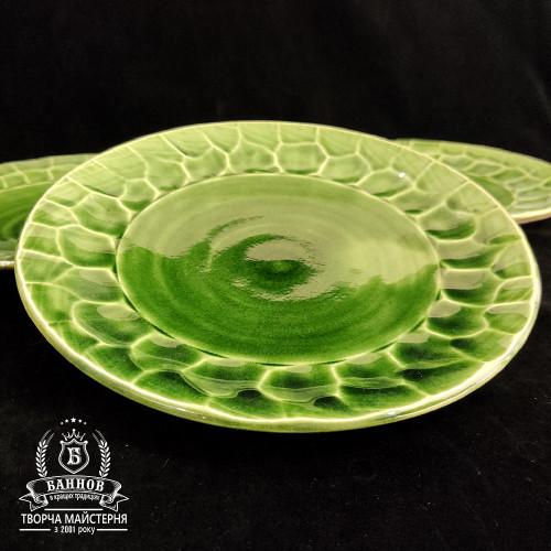 "Набор тарелок ""Грани"" (3 шт.), зеленый"