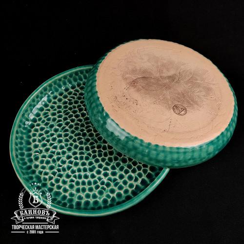 """Набор тарелок с высоким бортиком """"Пузырьки"""" (2 шт.), бирюзово-зеленый"""