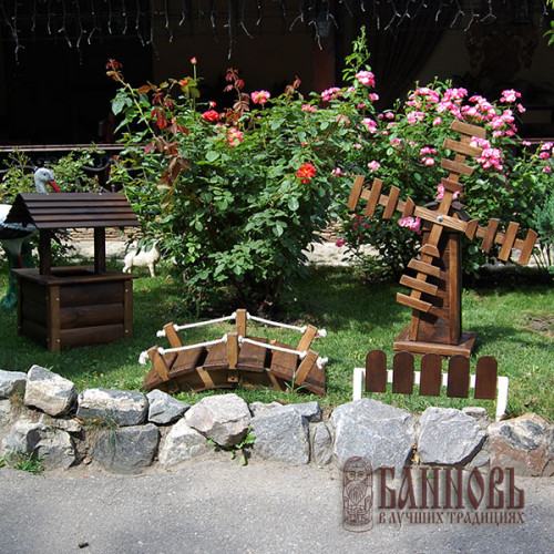Декоративный заборчик (20*50 см, палисандр)