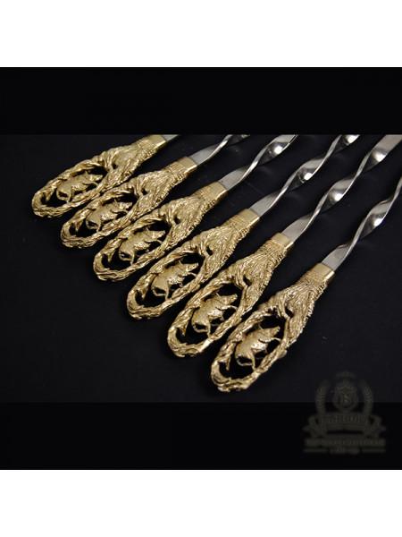 "Шампура ""Кабан"" набор бронза без колчана"