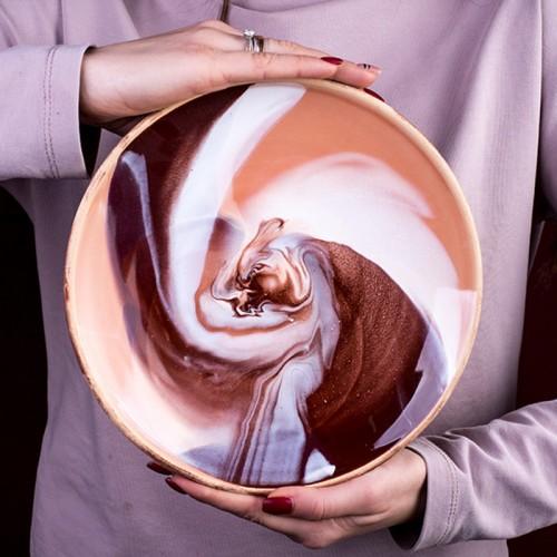 "Тарелка ""Колорит"", коричневая (22 см)"