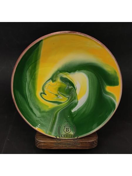 "Тарелка ""Колорит"", зеленая (21 см)"