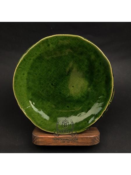 "Тарелка ""Season"", зеленая (19 см)"